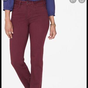 Nydj Marilyn straight pants / jeans petite NWT